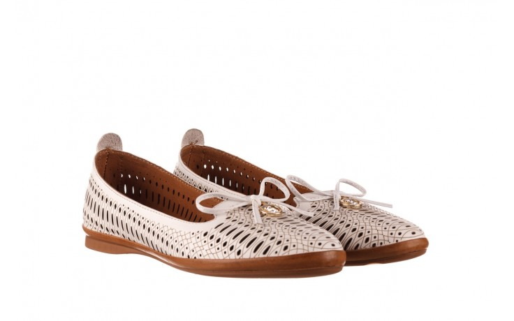 Baleriny bayla-190 262 632 34, biały, skóra naturalna  - ślubne - baleriny - buty damskie - kobieta 1