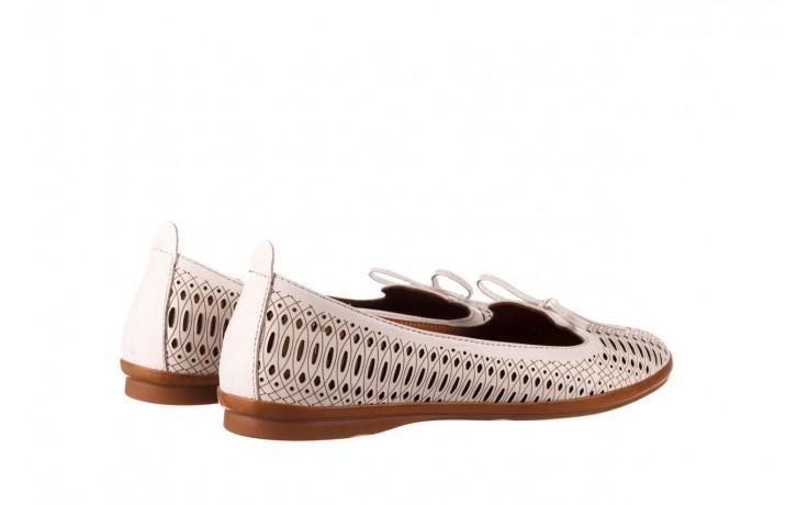 Baleriny bayla-190 262 632 34, biały, skóra naturalna  - ślubne - baleriny - buty damskie - kobieta 3