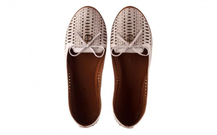 Baleriny bayla-190 262 632 34, biały, skóra naturalna  - ślubne - baleriny - buty damskie - kobieta 4