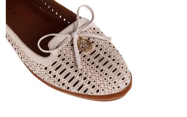 Baleriny bayla-190 262 632 34, biały, skóra naturalna  - ślubne - baleriny - buty damskie - kobieta 6