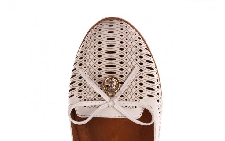 Baleriny bayla-190 262 632 34, biały, skóra naturalna  - ślubne - baleriny - buty damskie - kobieta 5