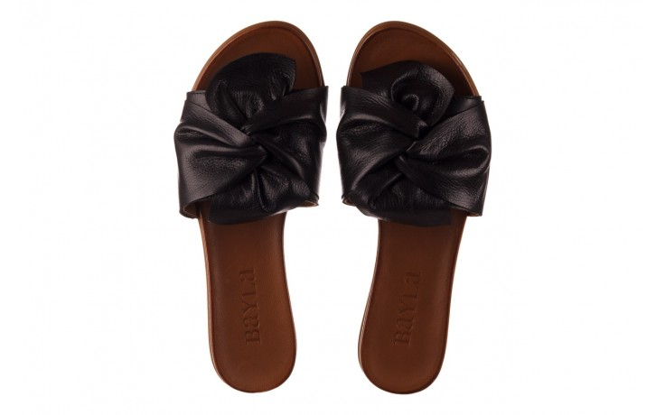 Klapki bayla-190 063 9n0802 black siyah, czarny, skóra naturalna  - klapki - buty damskie - kobieta 4
