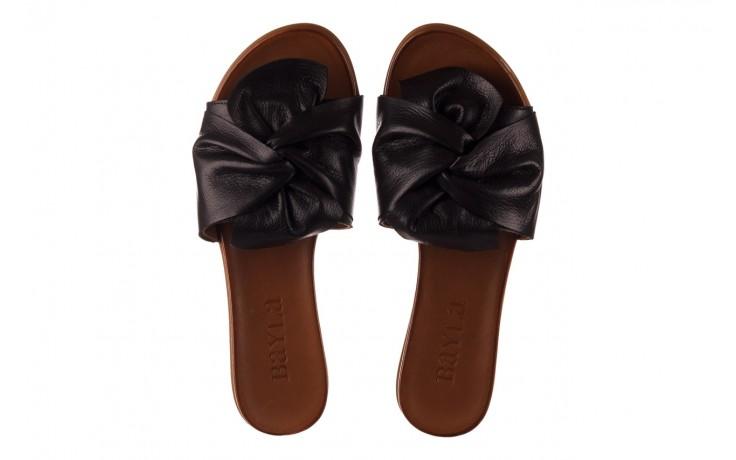 Klapki bayla-190 063 9n0802 black siyah, czarny, skóra naturalna 4