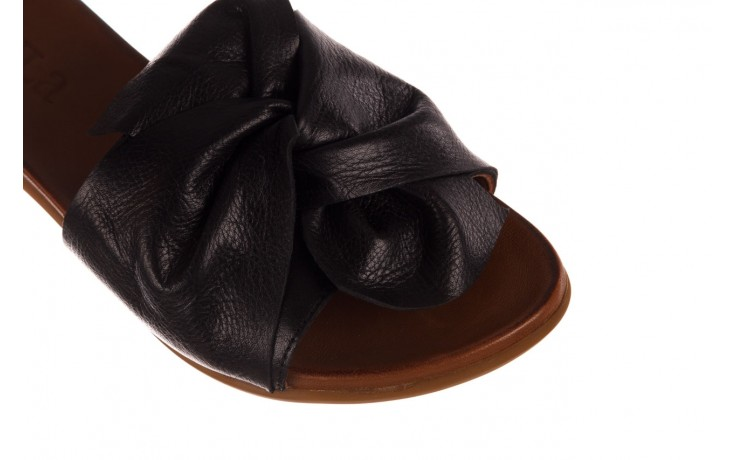Klapki bayla-190 063 9n0802 black siyah, czarny, skóra naturalna  - kobieta 5