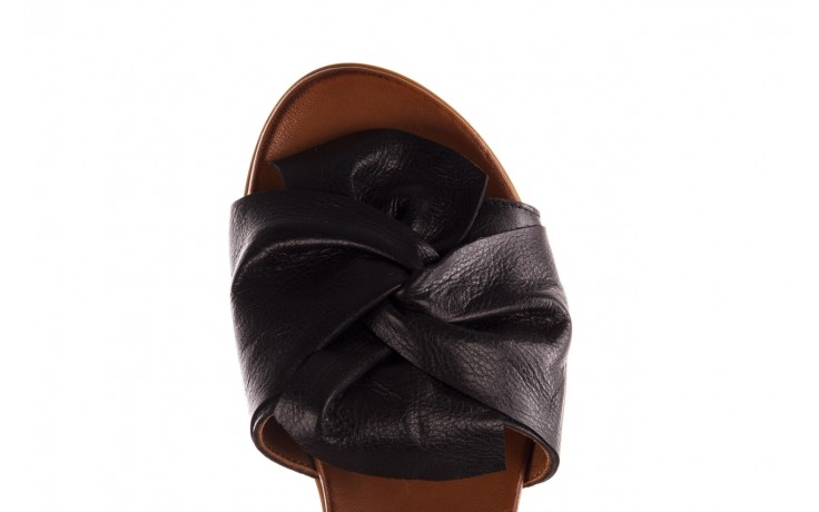 Klapki bayla-190 063 9n0802 black siyah, czarny, skóra naturalna  - klapki - buty damskie - kobieta 6