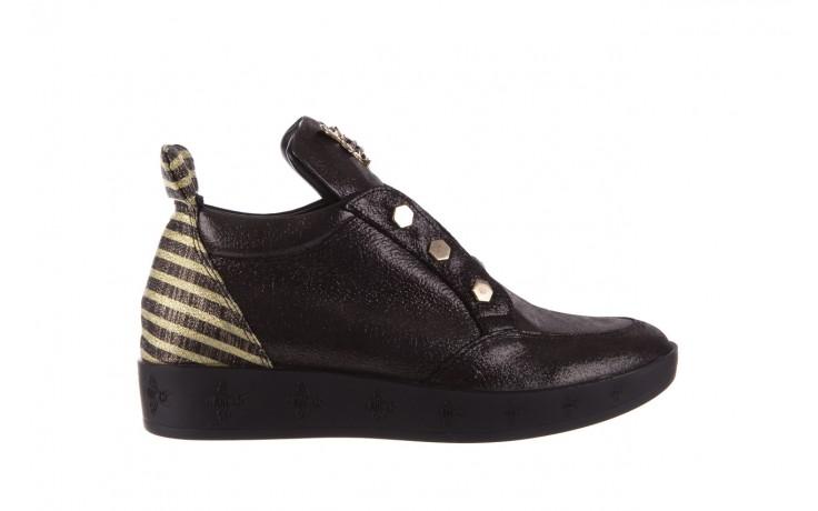 Trampki bayla-179 922 czarne trampki, skóra naturalna  - niskie - trampki - buty damskie - kobieta