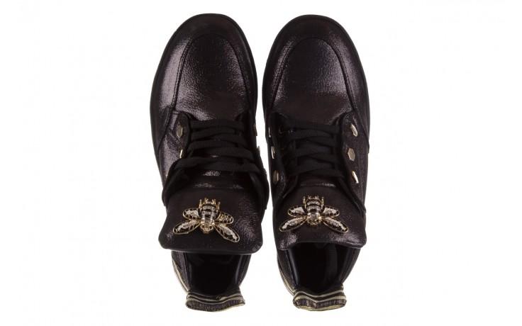 Trampki bayla-179 922 czarne trampki, skóra naturalna  - niskie - trampki - buty damskie - kobieta 4