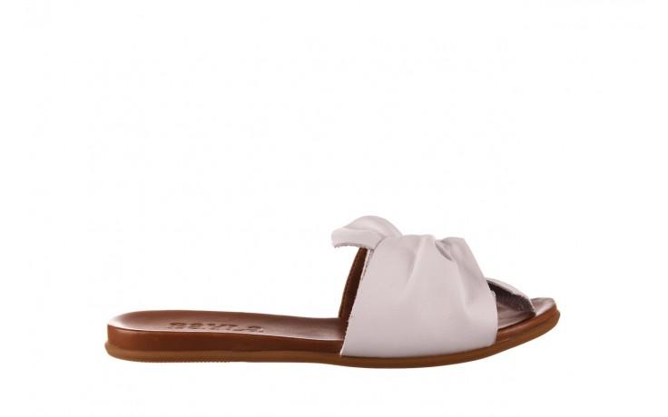 Klapki bayla-190 063 9n0802 white beyaz, biały, skóra naturalna  - klapki - buty damskie - kobieta
