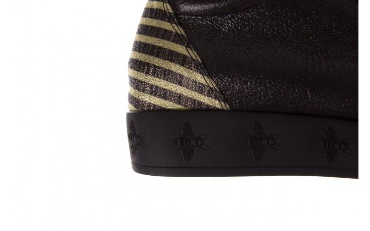 Trampki bayla-179 922 czarne trampki, skóra naturalna  - niskie - trampki - buty damskie - kobieta 7