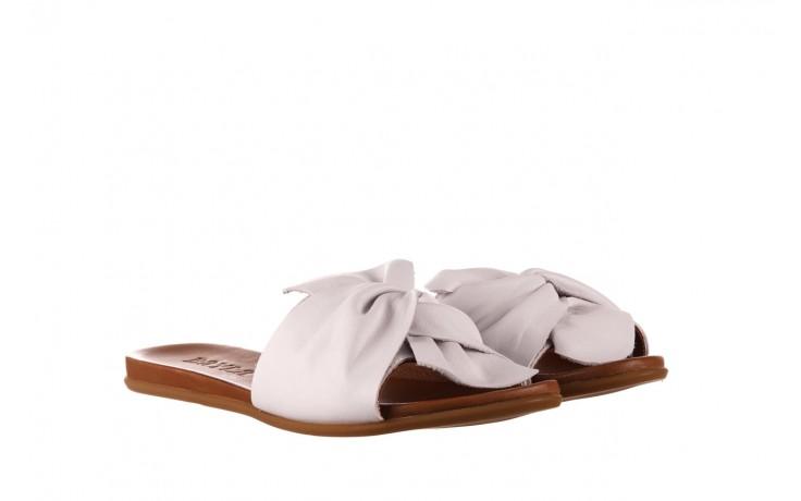 Klapki bayla-190 063 9n0802 white beyaz, biały, skóra naturalna  - klapki - buty damskie - kobieta 1
