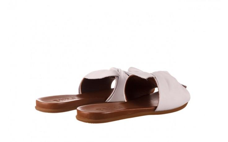 Klapki bayla-190 063 9n0802 white beyaz, biały, skóra naturalna  - klapki - buty damskie - kobieta 3