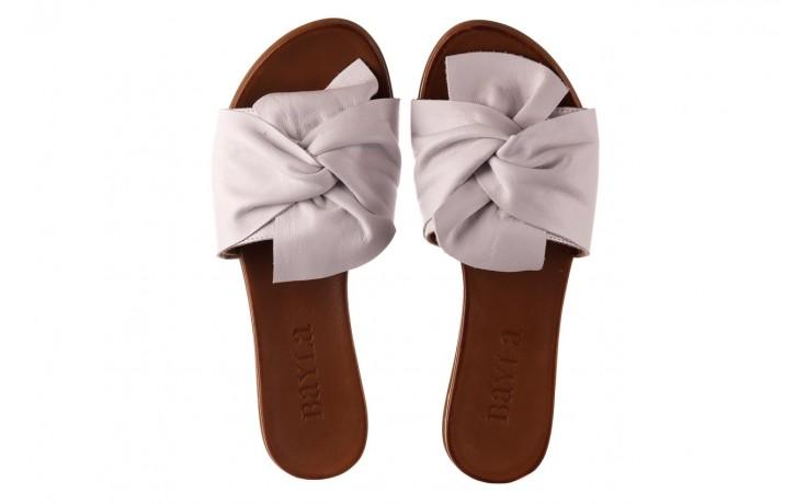 Klapki bayla-190 063 9n0802 white beyaz, biały, skóra naturalna  - klapki - buty damskie - kobieta 4