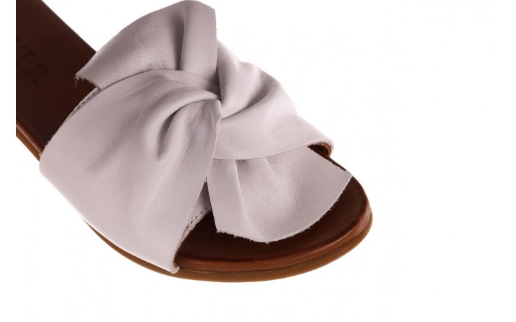 Klapki bayla-190 063 9n0802 white beyaz, biały, skóra naturalna  - klapki - buty damskie - kobieta 5