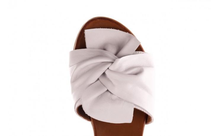 Klapki bayla-190 063 9n0802 white beyaz, biały, skóra naturalna  - klapki - buty damskie - kobieta 6
