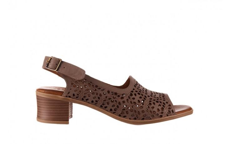 Sandały bayla-190 409 243 20, beż, skóra naturalna  - skórzane - sandały - buty damskie - kobieta