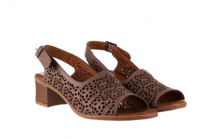 Sandały bayla-190 409 243 20, beż, skóra naturalna  - skórzane - sandały - buty damskie - kobieta 1