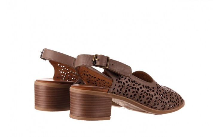 Sandały bayla-190 409 243 20, beż, skóra naturalna  - skórzane - sandały - buty damskie - kobieta 3