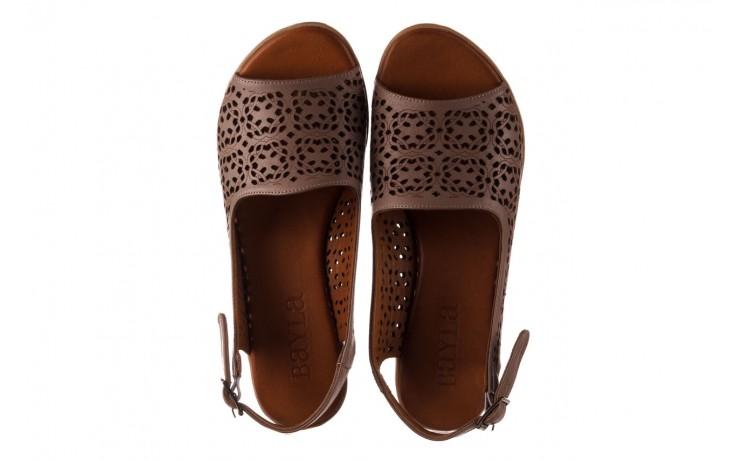 Sandały bayla-190 409 243 20, beż, skóra naturalna  - skórzane - sandały - buty damskie - kobieta 4
