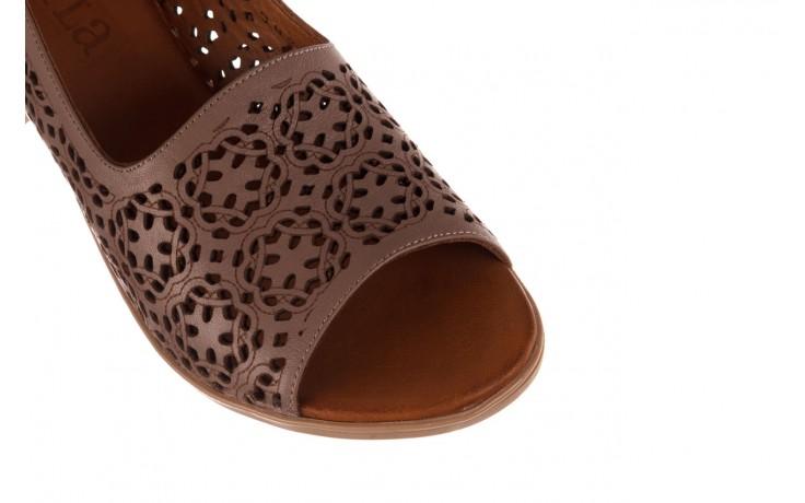 Sandały bayla-190 409 243 20, beż, skóra naturalna  - skórzane - sandały - buty damskie - kobieta 5