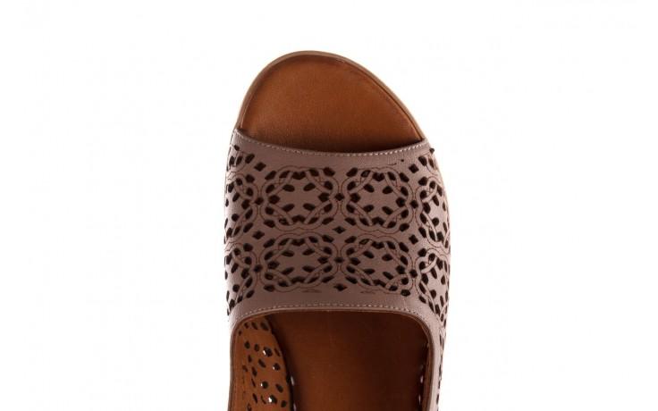 Sandały bayla-190 409 243 20, beż, skóra naturalna  - skórzane - sandały - buty damskie - kobieta 7