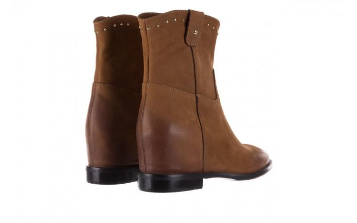 Botki bayla-170 2126 brązowe botki, skóra naturalna - koturny - buty damskie - kobieta 3
