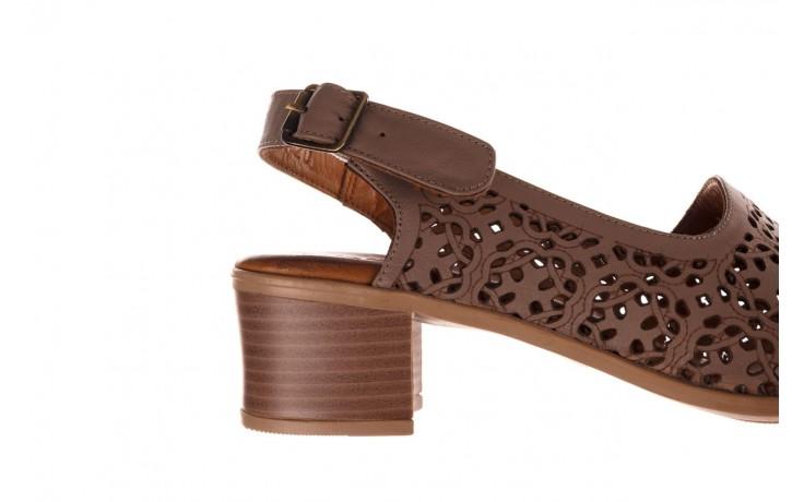 Sandały bayla-190 409 243 20, beż, skóra naturalna  - skórzane - sandały - buty damskie - kobieta 6