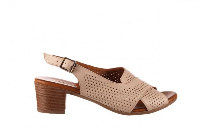 Sandały bayla-190 409 475 03, beż, skóra naturalna  - na obcasie - sandały - buty damskie - kobieta