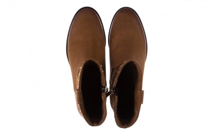 Botki bayla-170 2126 brązowe botki, skóra naturalna - koturny - buty damskie - kobieta 4