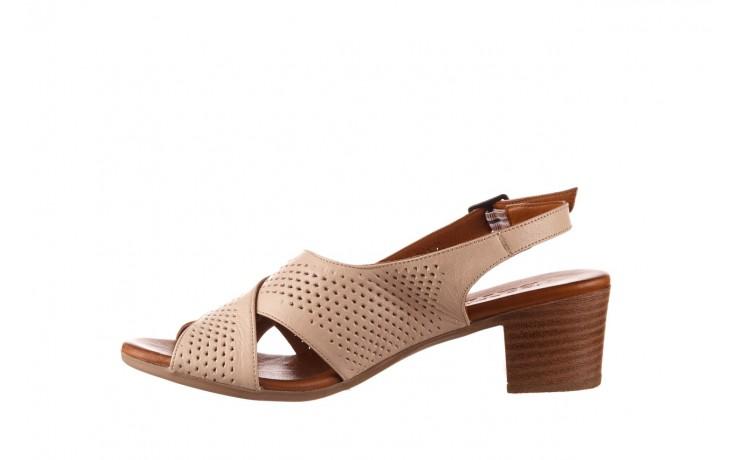 Sandały bayla-190 409 475 03, beż, skóra naturalna  - na obcasie - sandały - buty damskie - kobieta 2