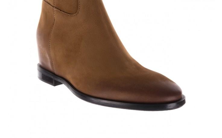Botki bayla-170 2126 brązowe botki, skóra naturalna - koturny - buty damskie - kobieta 5