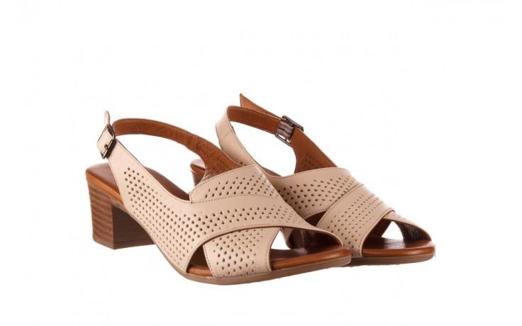 Sandały bayla-190 409 475 03, beż, skóra naturalna  - na obcasie - sandały - buty damskie - kobieta 1
