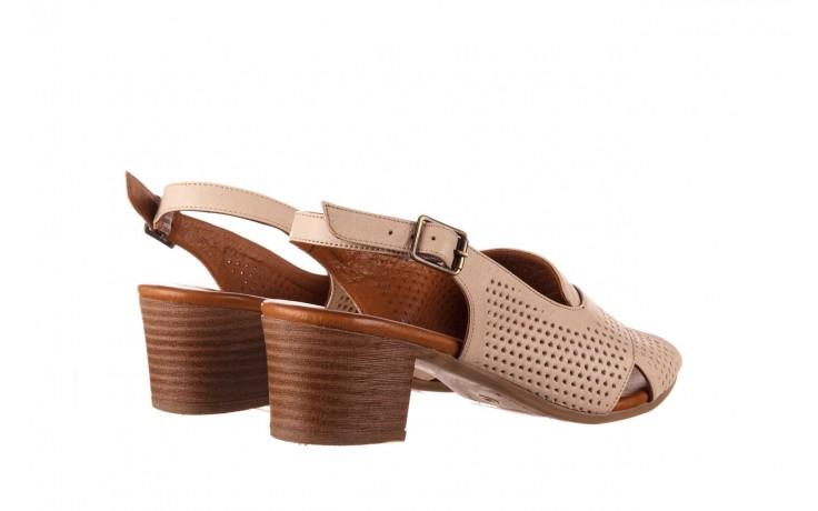 Sandały bayla-190 409 475 03, beż, skóra naturalna  - na obcasie - sandały - buty damskie - kobieta 3