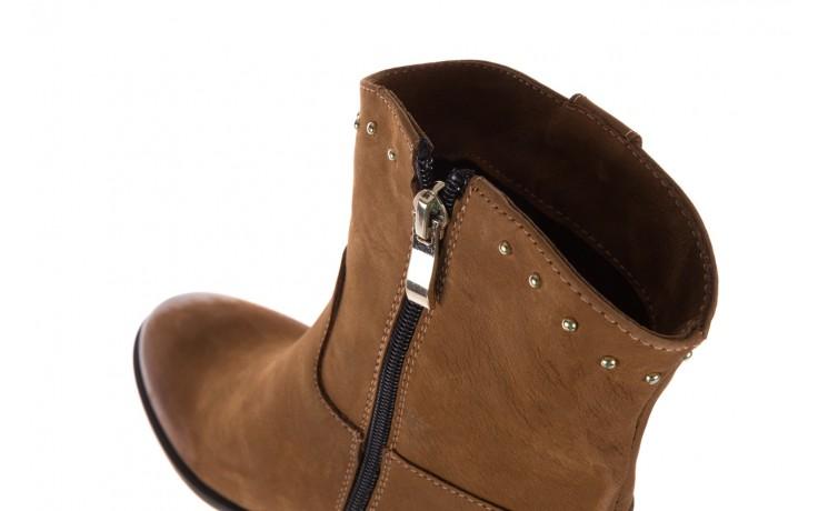 Botki bayla-170 2126 brązowe botki, skóra naturalna - koturny - buty damskie - kobieta 7