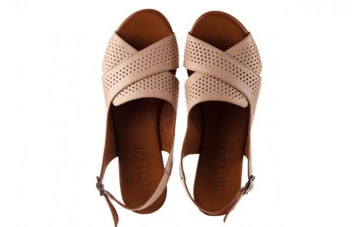 Sandały bayla-190 409 475 03, beż, skóra naturalna  - na obcasie - sandały - buty damskie - kobieta 4
