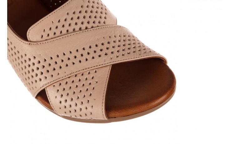 Sandały bayla-190 409 475 03, beż, skóra naturalna  - na obcasie - sandały - buty damskie - kobieta 5