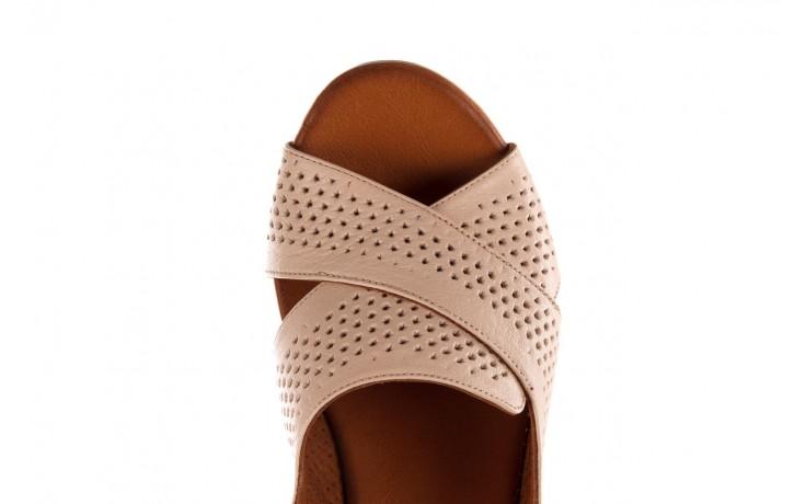 Sandały bayla-190 409 475 03, beż, skóra naturalna  - na obcasie - sandały - buty damskie - kobieta 6