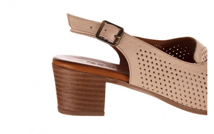 Sandały bayla-190 409 475 03, beż, skóra naturalna  - na obcasie - sandały - buty damskie - kobieta 7