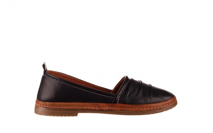 Półbuty bayla-190 515 772 siyah-taba, czarny, skóra naturalna  - skórzane - półbuty - buty damskie - kobieta