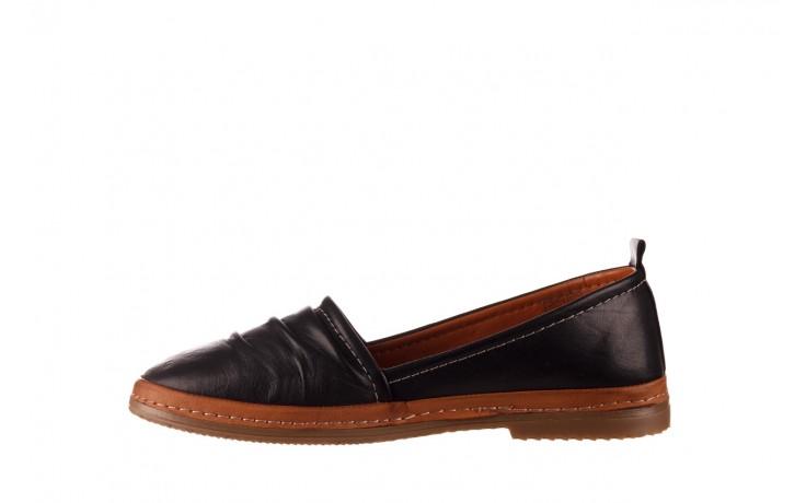 Półbuty bayla-190 515 772 siyah-taba, czarny, skóra naturalna  - skórzane - półbuty - buty damskie - kobieta 2
