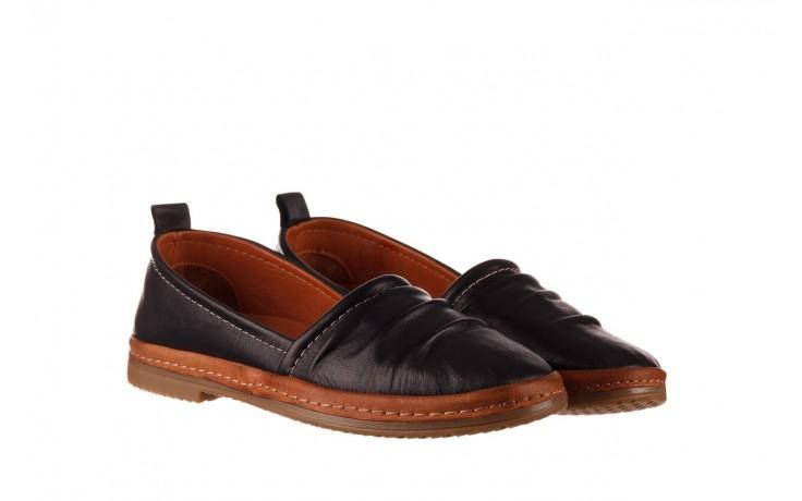 Półbuty bayla-190 515 772 siyah-taba, czarny, skóra naturalna  - skórzane - półbuty - buty damskie - kobieta 1