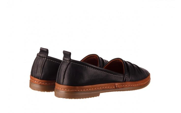 Półbuty bayla-190 515 772 siyah-taba, czarny, skóra naturalna  - skórzane - półbuty - buty damskie - kobieta 3