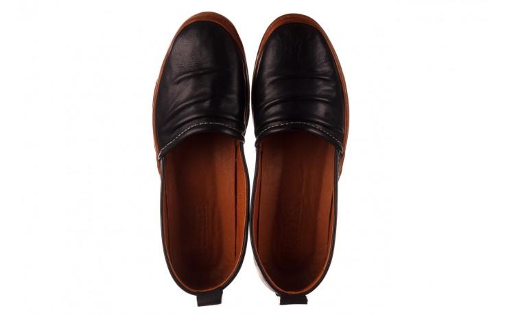 Półbuty bayla-190 515 772 siyah-taba, czarny, skóra naturalna  - skórzane - półbuty - buty damskie - kobieta 4