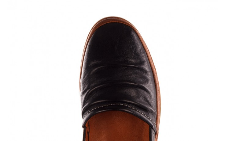 Półbuty bayla-190 515 772 siyah-taba, czarny, skóra naturalna  - skórzane - półbuty - buty damskie - kobieta 6