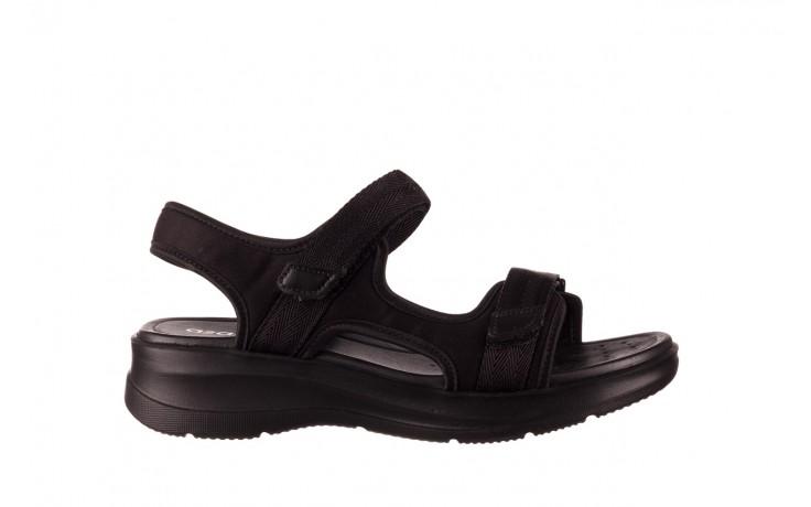 Sandały azaleia 330 560 black, czarny, materiał  - kobieta