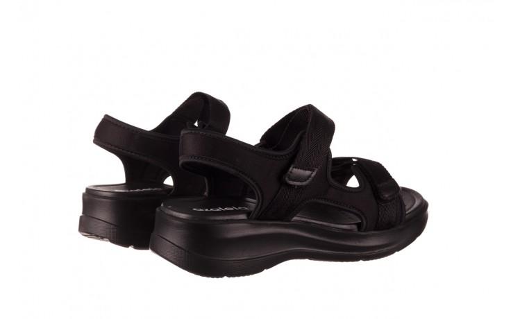 Sandały azaleia 330 560 black, czarny, materiał  - kobieta 3