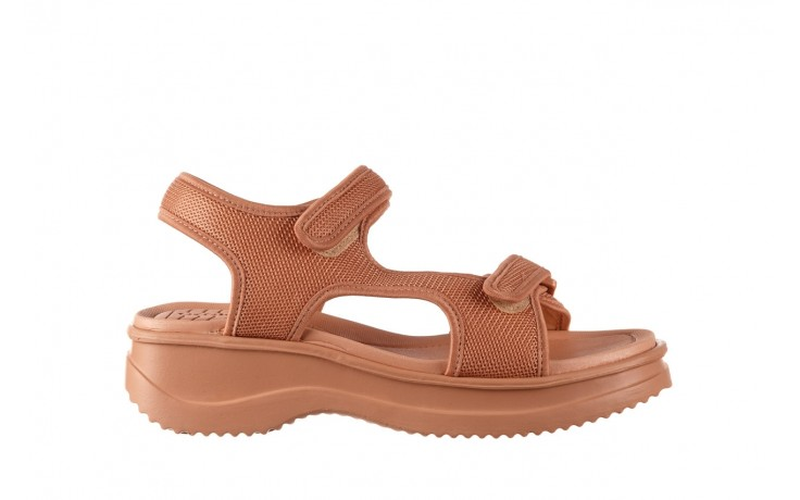 Sandały azaleia 320 323 nude 20, róż, materiał - płaskie - sandały - buty damskie - kobieta
