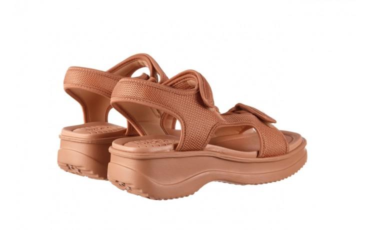 Sandały azaleia 320 323 nude 20, róż, materiał - płaskie - sandały - buty damskie - kobieta 3