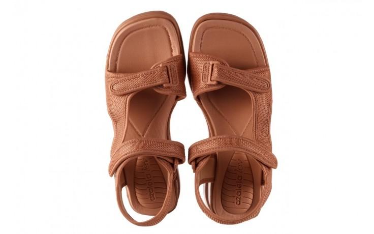 Sandały azaleia 320 323 nude 20, róż, materiał - płaskie - sandały - buty damskie - kobieta 4