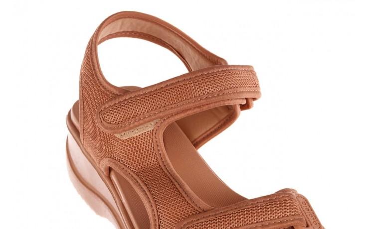 Sandały azaleia 320 323 nude 20, róż, materiał - płaskie - sandały - buty damskie - kobieta 6