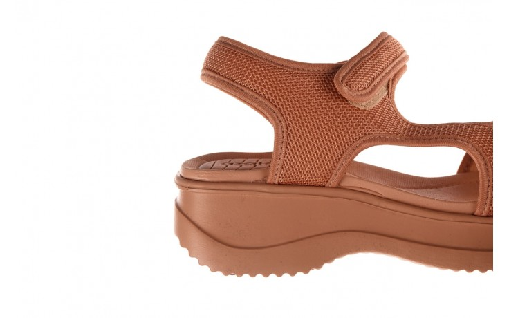 Sandały azaleia 320 323 nude 20, róż, materiał - płaskie - sandały - buty damskie - kobieta 8